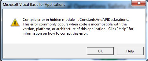 bConstantsAndAPIDeclarations Error Message