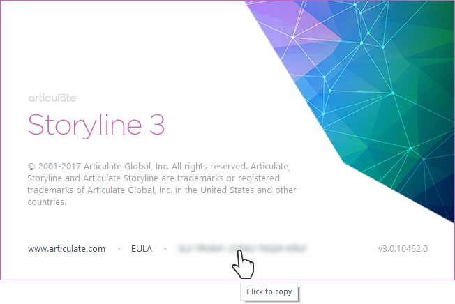 Articulate 360 Storyline 3 How To Find Your Serial Number Articulate Support
