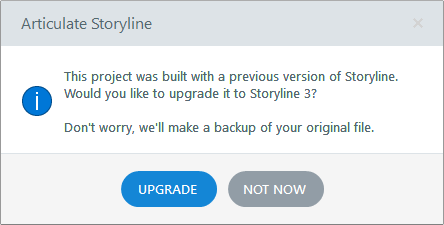 Articulate 360 How To Upgrade A Course To Storyline 3 Articulate Support