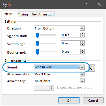 Storyline: PowerPoint Animation Sound Effects Aren't Supported