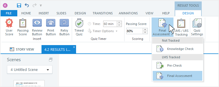 Quiz types in Storyline 360