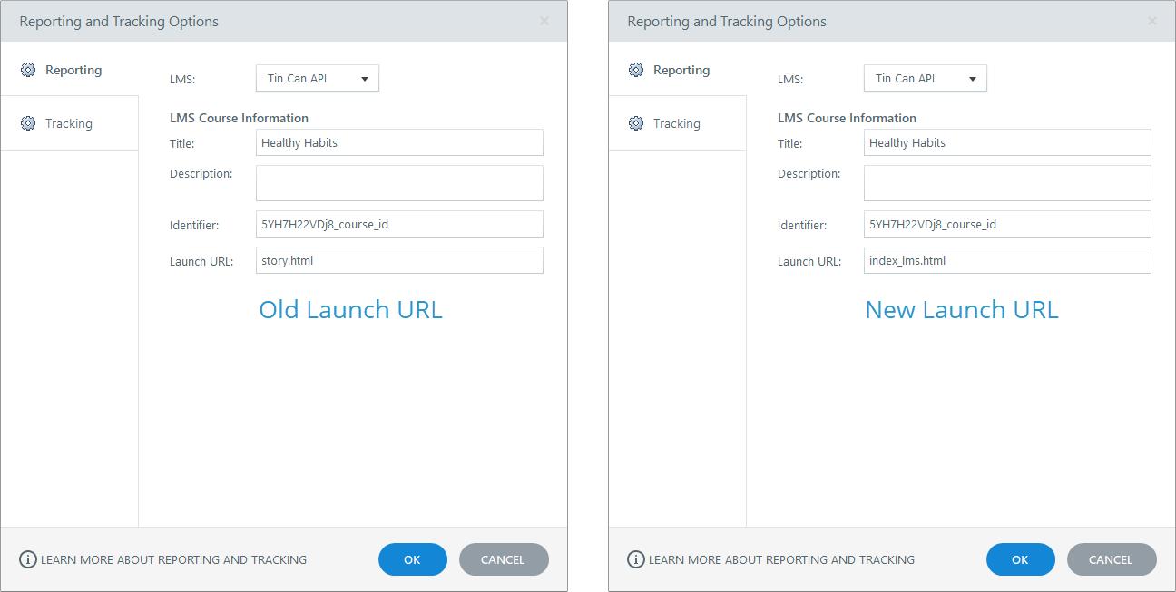 Old launch URL versus new launch URL